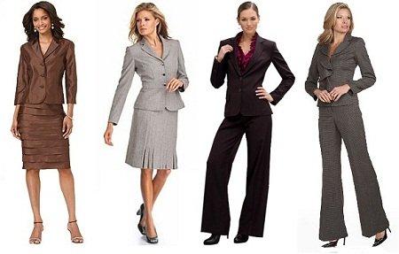 деловой костюм для базового гардероба