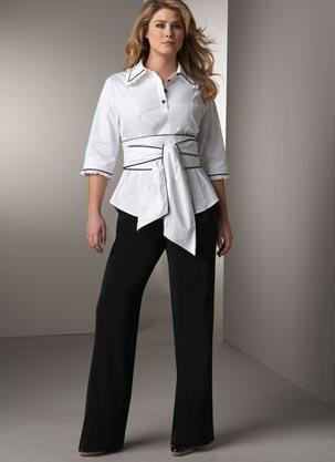 широкие штаны для пышнотелых красавиц