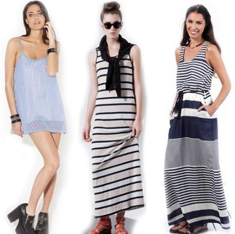 Мода весна-лето 2014: полосатый принт.