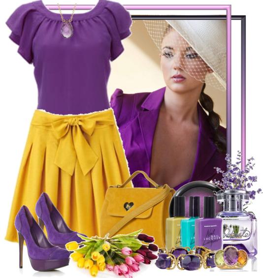 желто-фиолетовая комбинация