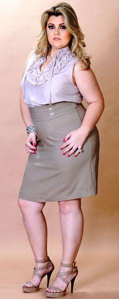 юбка для полной леди