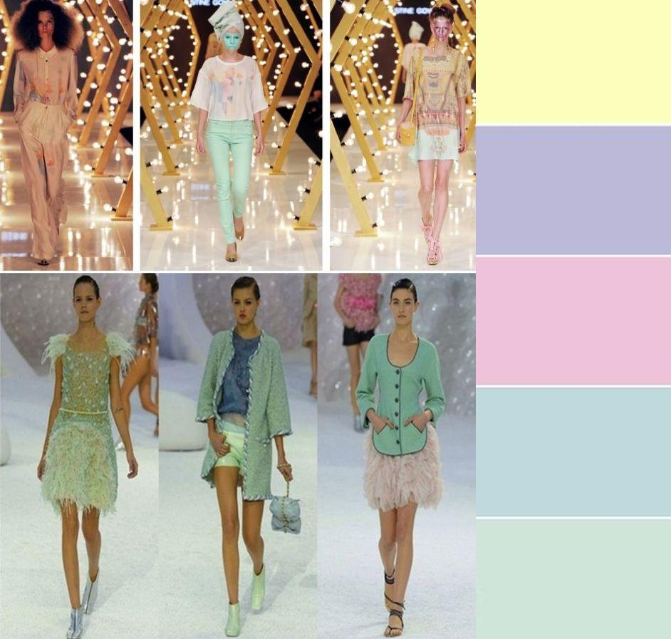 Мода сезона весна-лето 2013: пастельная палитра.