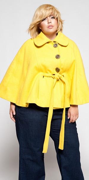 Модное пальто для полных женщин