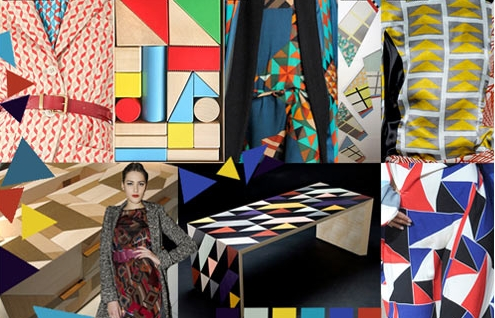 модные геометрические принты 2012