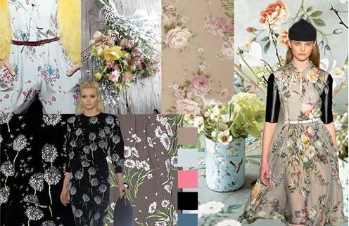 модные цветочные принты 2012