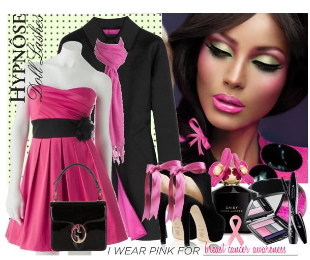 черный и розовый