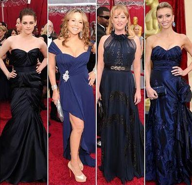 дамы в синем платье
