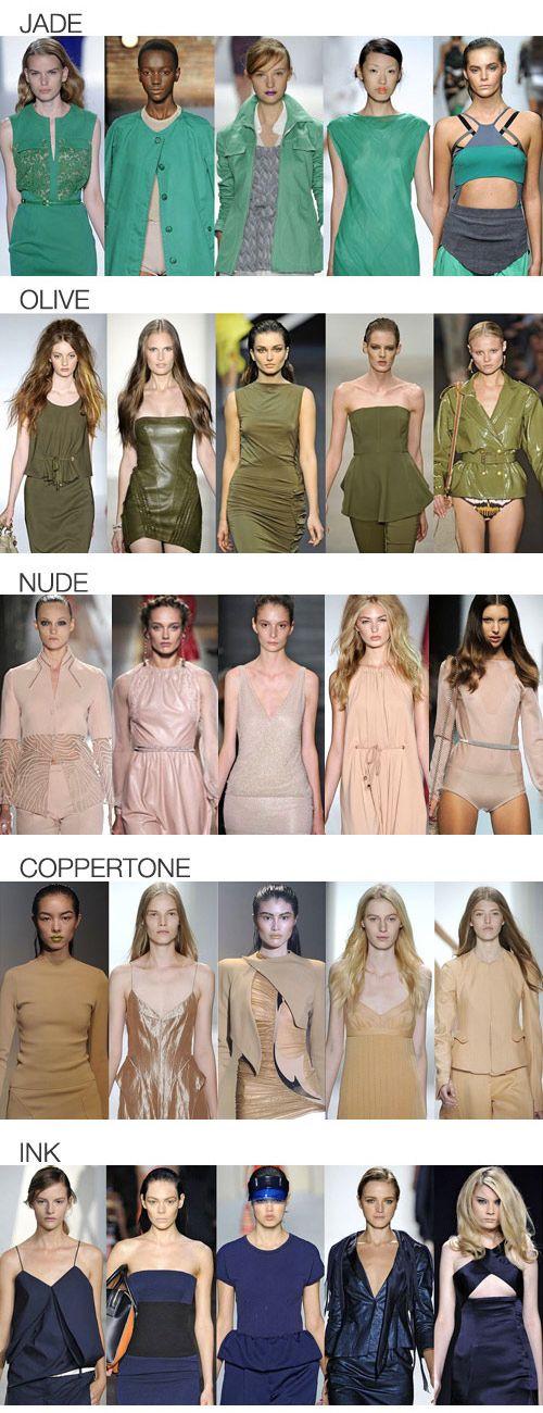 Модные цвета сезона весна-лето 2013
