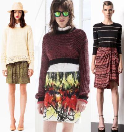 Модные юбки 2014: материал, фасон и расцветка модных юбок 2014.